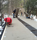 Foam Deck Roof installation